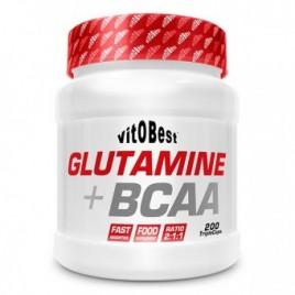 Glutamina+BCAA Polvo 500gr Vitobest