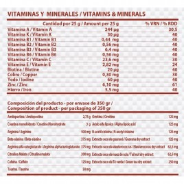 Pre Workout 350 gr Starpro Frutas del Bosque