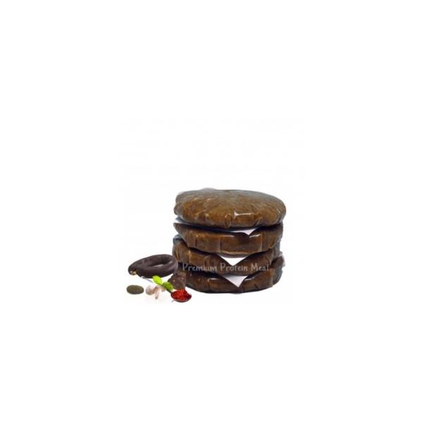 Hamburguesas de Pollo Sabor Morcilla Malagueña 6x100gr