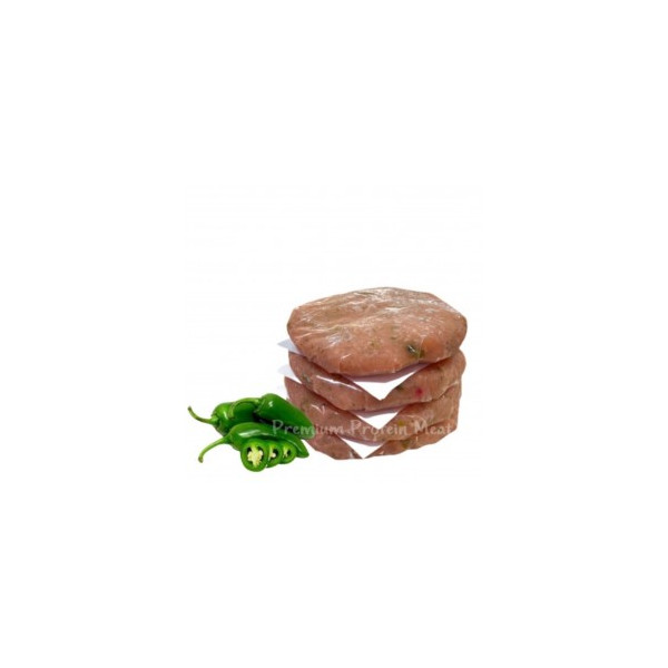 Hamburguesas de Pollo con Chile Jalapeño 6x100gr